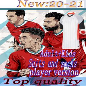 20 21 Oyuncu Sürüm LVP Futbol Formaları Gerrard Özel Baskı Smicer Alonso Hamann Barnes KUYT CISSE Yeni 2021 Futbol Gömlek Erkekler + Çocuklar Suit