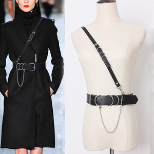 Hatcyggo Sexy Women Leather Shoulder Harness Lingerie Strap Female Trendy Body Bondage Waistband Punk Chain Belt for Women