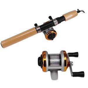 1 unids Pesca al aire libre Reel engranaje Relación Mini Trolling Reel BaitCasting Pesca Fuentes de hielo Casting Tackle Reels Bobina