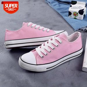 New 2020 Spring Canvas Shoes Women Fashion Sneakers Low top Breathable Students Shoes Women's Sneakers Flat Band Footwear ZH2767 #Km6F