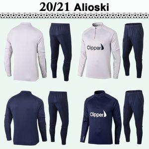 2020 2021 Phillips Alioski Bamford Training Anzug Football Jerseys Erwachsene Kit Sapphire Grau Alioskii Clarke Cooper Mens Langarm Kit