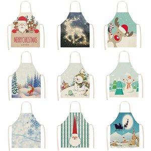 Natale Dree Snow Doll Stampato Pulizia della cucina Casa Abbigliamento Cucina Drag Biancheria di cotone Lino Adulto Slaves 53 * 65cm MX0005