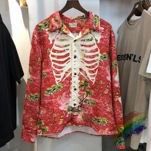 2021 novos homens luxo kapital costa ocidental crips caju flor algodão casual camisa camisa de alta qualidade bolso de mangas curtas top n426 mjxb