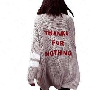 Newdiscvry Мода Письмо Вышивка Кардиган Женщины Классический Весна Осенний Свитер Трикотажное пальто Женское Повседневная Лонг Кардиган Пальто