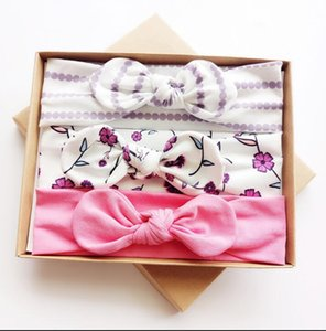 Free 3PCS Set Fashion Kids hair bands Girls Headband Mix Styles Dots Headwear Flower Bowknot Headband with Gift ps2946