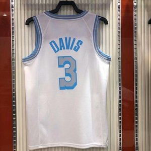 Quick Dry 2021 City Version White Heat Press Basketball Jersey 3 Davis Kuzma No Sleeve Vest Shirts O-Neck Design