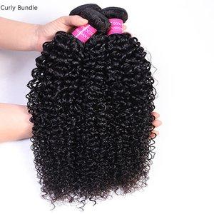 Hair Bundles 3PC Lot Brazilian Malaysian Peruvian Indian Curly Hair Bundles Human Virgin Hair Extensions Natural Black