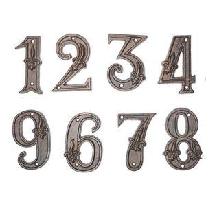 Plaques de porte de quincaillerie Numéro de la maison moderne Numéro de la porte Bronze Numéros d'adresse House Numérique Plaques Numéro de plancher DHB5267