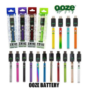 New Packaging Ooze Twist Slim Pen 320mah Vape Pen Battery Preheat Function Variable Voltage with USB Charger