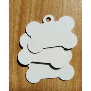 DIY heat transfer UV metal bone pet sublimation blank aluminum Dog tag