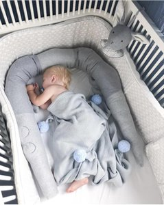 185 سنتيمتر الطفل السرير الوفير التمساح أفخم لعب وسادة طويلة وسادة وسادة الطفل سرير بطانة غرفة الطفل الديكور التصوير الدعائم