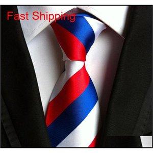 Classic 100% Seda Mens Corbatas Nuevos Diseño Corbatas Cuello Cuello 8cm Corbatas Plaxstripas Para Hombres Negocios Formales Weddi Qyleqh Bdehome