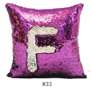 40X40cm Sequins Solid Pillowcase Sublimation Pillow Cover Hot Transfer Printing DIY Decorative Sofa Pillows Case DWB5115