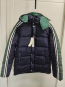 hombre diseñadores ropa chaquetas paris letra verde raya algodón béisbol casual para hombre abrigos de invierno para hombre chaqueta negra