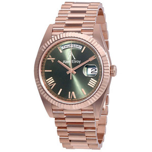 17 colores Top Sell Watch Rose Gold Case Green Dial Mecánico Auto-Windering Glide Smooth 40mm Mens Royal Oaks Watch Relojes de barrido
