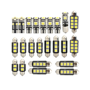 23Pcs T10 5050 W5W Car LED Interior Lights Lamp Bulbs Kit White Reading Lights 12V License Plate Light Door Light Interior Light