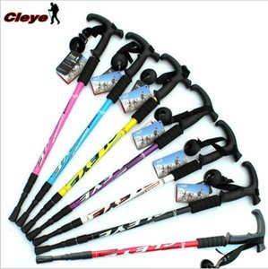 Cleye aluminum alloy walking stick trekking pole three-section walking stick outdoor hiking supplies factory direct wholesale