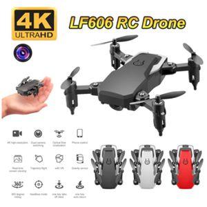 LF606 WIFI FPV Foldable RC 무인 항공기가있는 5.0MP 4K HD 카메라 고도 보류 3D 플립 헤드리스 모드 RC 헬리콥터 항공기 비행기
