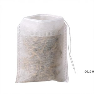 2021 Teabags 5.5 x 7CM Empty Scented Tea Bags With String Heal Seal Filter Paper for Herb Loose Tea Empty Scented GWE10631