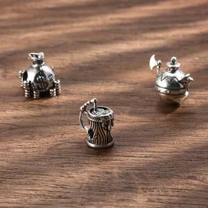Original Charm for Women Classic Silver 925 Pirate Theme Money Bag Beer Mug Beads Arms Charms Fit Original Bracelet DIY Jewelry