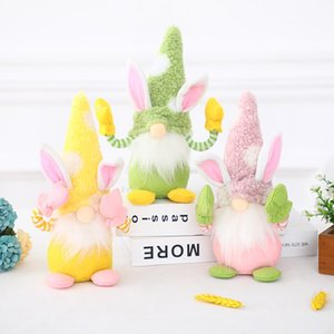 Easter Bunny Gnome Faceless Bunny Dwarf Doll with Hand Easter Plush Rabbit Dwarf Holiday Party Table Decoration