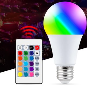 E27 Smart Control Led RGB Bulb Light Dimmable 5W 10W 15W Led Lamp Colorful Changing Decor Home