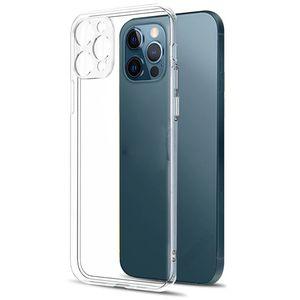 Защита объектива камеры Прозрачный чехол для телефона для iPhone 12 11 Pro Max XS XR XR X 8 7 6 6S Samsung S21 S10 Силиконовая мягкая крышка с толчкой