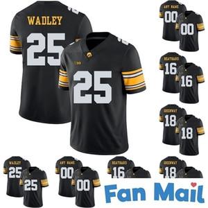 NCAA Iowa Hawkeyes # Akrum Wadley C.j Beathard Chad Greenway Marshall Koehn Noah Fant College Football Stitched Jerseys Nero