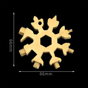 18-in-1 Snowflake Multi Tool Stainless Steel Snowflake Durable Portable Bottle Opener Flat Screwdriver Kit Wrench Christmas Gift