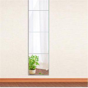 4 pcs decorativo auto adesivo 3d telha parede espelho espelho espelho quarto quadrado diy home decor adesivos 30x30cm y200103 750 k2