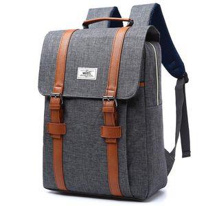 Backpack Women Canvas Casual Rucksacks Female 15 Inch Laptop Backpacks College Student School Mochila