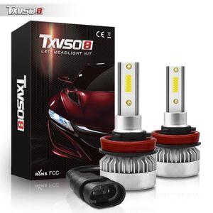 Car Headlights TXVSO8 Mini H9 Led Headlight Bulbs 6000K 20000LM 12V Auto COB Diode Lamps Lights 110W Bombillas Coche