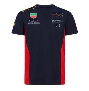 F1 T-shirt de terno de corridas de mangas curtas, uniforme da equipe do estilo da equipe, secagem rápida e t-shirt curto respirável personalizado