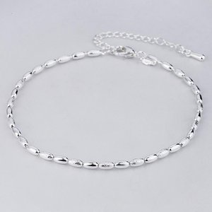 Link, Chain 2021 Korean Style Fashion Jewelry Bracelet Homme Olive Bead Plate With Silvery Color