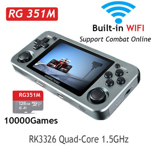 hot RG351M RG351P Retro Video Game Console Aluminum Alloy Shell Game Portable Console RG351 Handheld Game Player