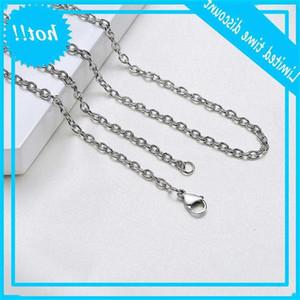 Classic 3mm rvs цепи ожерелье для женщин мужчины ссылка воротник 55см 60см 70см