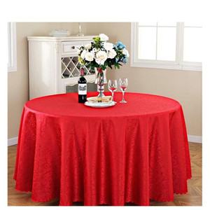 Double Hook Rectangle Small Polyester Jacquard Red Hotel Banquet Tablecloths Table Round Cloth Mark Place Tabl jllJub xmhyard