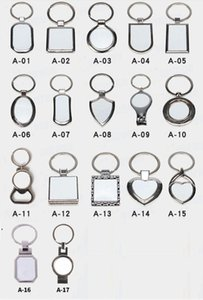 Sublimation Key Rings Blank White Metal Single Side For Sublimating Heat Transfer Keychain Christmas Valentine Pendants Gifts DWF9165