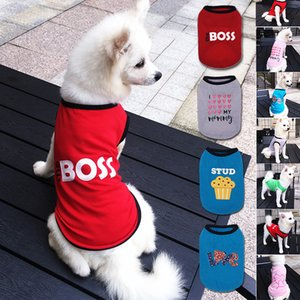 Printed the Dog Boss Clothing Poodle Bichon Pomeranian Sleeveless Vest for Summer Puppy Dogs Thin Clothes Pet Stuffs Supplies 10