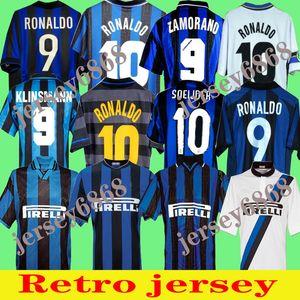 Finaller 2009 2010 Milito Sneijder Zanetti Retro Futbol Jersey Futbol 97 98 99 Djorkaeff Baggio Ronaldo Adriano Milano 10 11 02 03 08 09