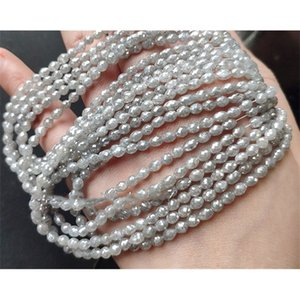 loose beads diamond egg faceted white color 16cm for DIY jewelry making FPPJ wholesalenature 0308