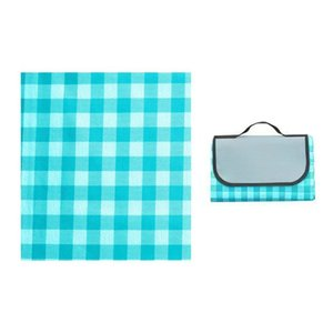 Outdoor Pads 150*200cm Foldable Waterproof Picnic Mat Blue White Plaid Thicken Pad Breathable Portable Camping Travel Beach Blanket