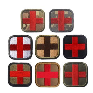Tactical Red Cross First Aid Patch Stickers Embroidered Medical Patches Paramedic Badge Appliques