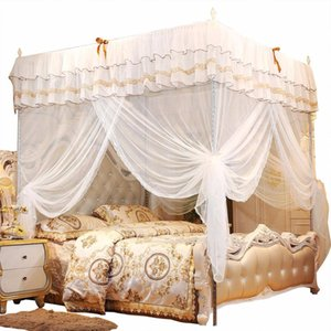 Priness Cot Luxury Princess Four Corner Post Bed Curtain Canopy ting Elegant Bedding Baby Mosquito Net
