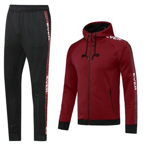 Custom classic style Hooded tracksuit jacket Maillot De Foot Survetement full Zipper Hooded tracksuit 0051