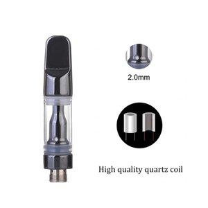 Tam Seramik Vape Kartuşu 510 Konu Atomizer Tek Kullanımlık Vapes E-Sigaralar CA Ağır Metal Testi 1ml Carts için Uygun