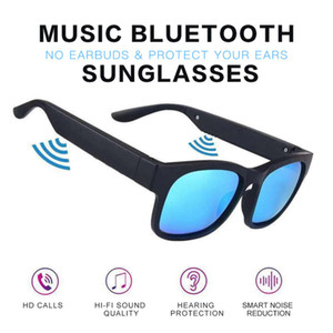 Bluetooth Smart Designer Sunglasses para hombre y para mujer Marco de lujo Gafas de sombrilla deportes al aire libre Gafas de sol Polarizado Frame protector UV