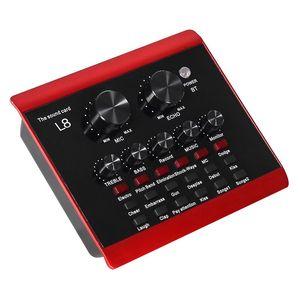 Sound Cards Live Card, Karaoke Mixer, Recording, Intelligent Volume Adjustable Audio Multiple Effects