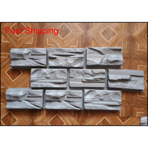 1pcs Plastic Molds For Concrete Plaster Wall Stone Tiles For Garden Decoration Wall Dec qylTHt homes2011