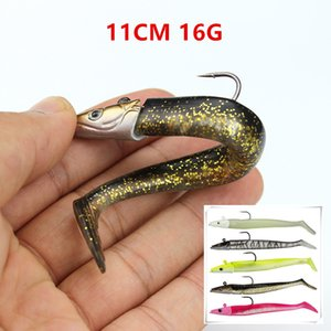 5 adet / grup 5 Renk Karışık 11 cm 16g Jigs Yumuşak Yemler Lures Balıkçılık Kanca Tek Kanca Pesca Olta Takımı FS-263